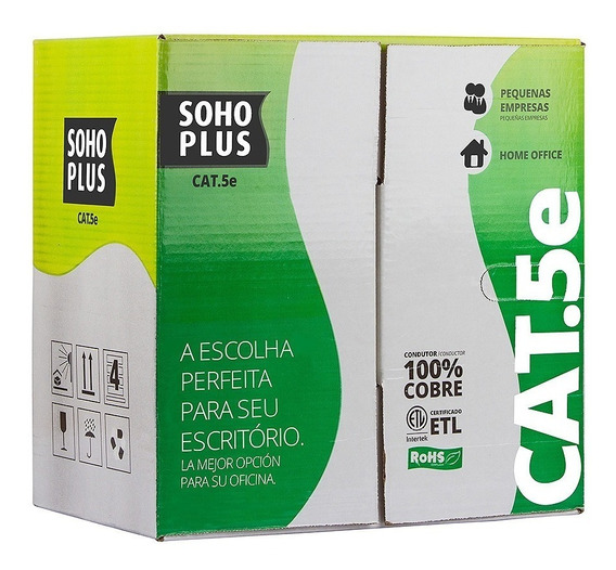 Cabo De Rede Furukawa Cat5e Soho Plus Caixa 305m Cmx Azul
