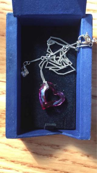 Collar Swarovski Original Forma De Corazón Edición Especial