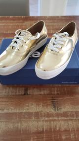 Tenis Keds Triple Specchio Ouro - Plataforma Dourado. Novo!