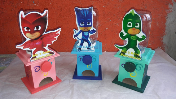 Centros De Mesas Chicleros Mdf Infantiles Superman 16 Piezas