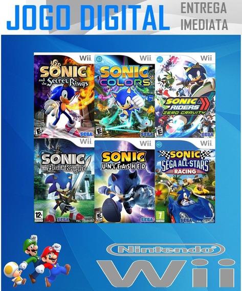 Wii - 6 Super Jogos Sonic - Digital - Receba Agora
