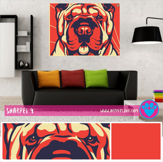 Cuadro Art Pet Love - Sharpei 4.