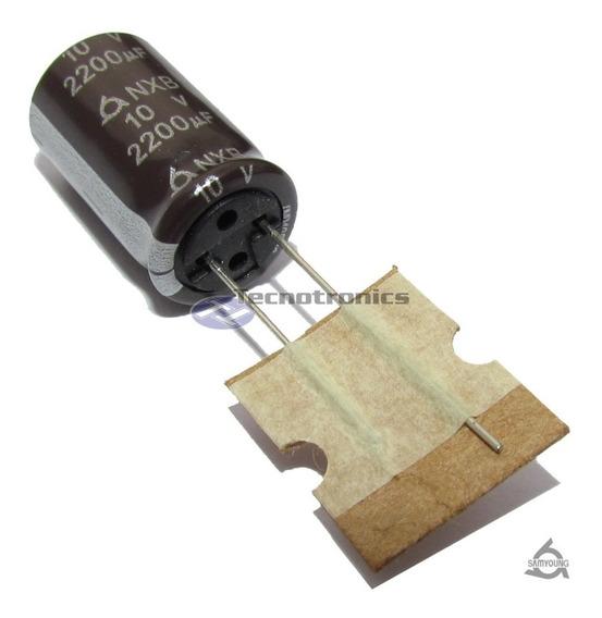 50 Capacitor Eletrolitico 2200uf X 10v 105ºc Arduino