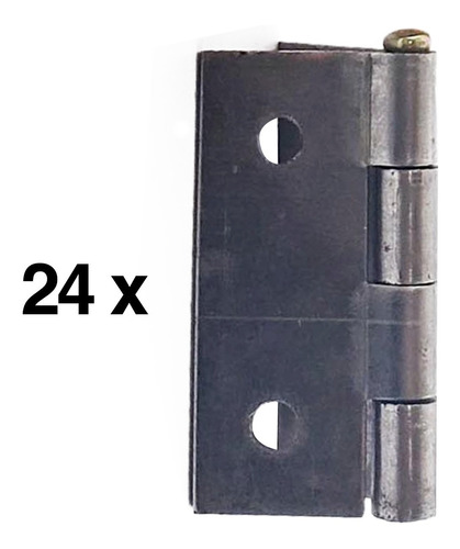Kit 24 Pcs Mini Dobradiça Para Artesanato 1.1/2 Merkel Frey
