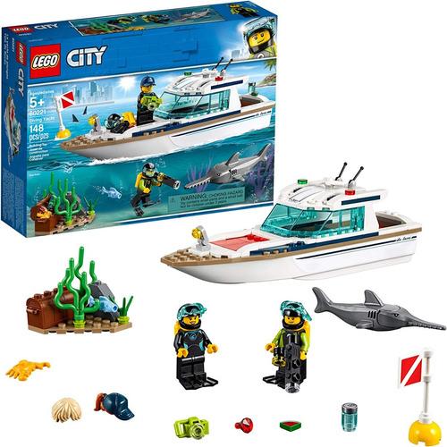 Lego City Great Vehicles 60221 Barco Yate De Buceo