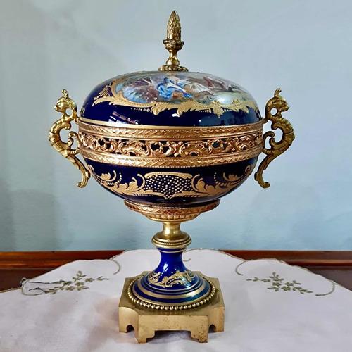 Imagen 1 de 10 de Antigua Caramelera De Porcelana Francesa Sevres