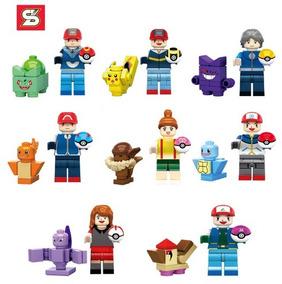 Kit Pokemon Pikachu Blocos De Montar Lego Kit Com 8