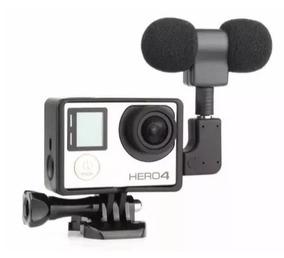 Microfone Profissional Para Gopro Hero 3 + E 4 Frame