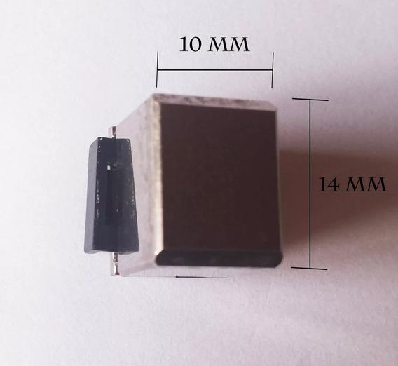 Botao Gradiente Quadrado Metalico Haste Plastica Curta