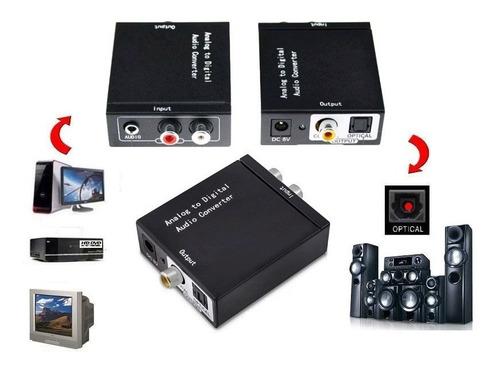 Convertidor Audio Rca Analogo A Audio Óptico Tornamesa Dvd