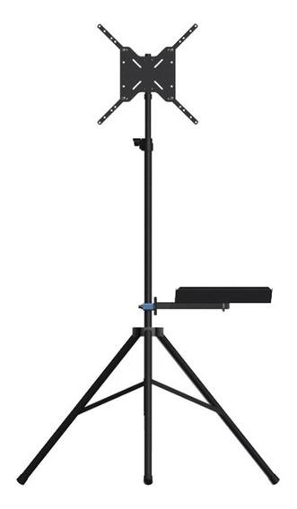 Tripé Para Tv Avatron Tvn-180-b Com Bandeja Preto