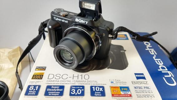 # Camera Digital Sony Cyber Shot Dsc H10 10x Compl Leia* Loj