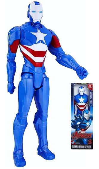 Novo Boneco Vingadores Iron Patriot Titan Hero 30 Cm Hasbro