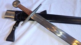 Espada Medieval Templária Séc Xi - Funcional Afiada Full Tan