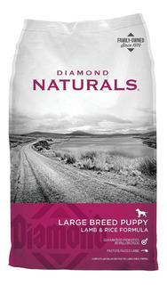Alimento Diamond Naturals Large Breed Puppy perro cachorro raza grande cordero/arroz 18.14kg