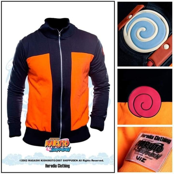 Sudadera Naruto Shippuden Naranja Con Negro Anime Cosplay