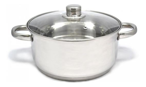 Olla Cacerola Gourmet Plus 24 Cm Acero Inox Triple Fondo