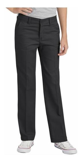 Pantalon Dickies Dama Pierna Recta Apto Uniforme Negro
