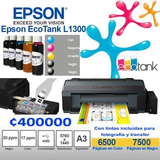 Impresora A3 Para Transfer Epson L1300 Tintas Unlimited Ink