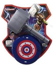 Vingadores Martelo Thor + Escudo Capitão América