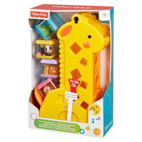 Fisher Price Girafa Com Blocos Musical Mattel B4253 + Nfe