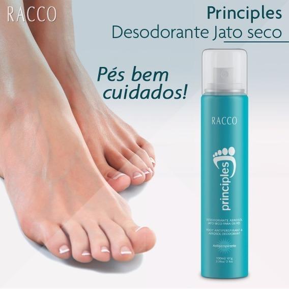 Desodorante Para Os Pés Jato Seco Principles Racco