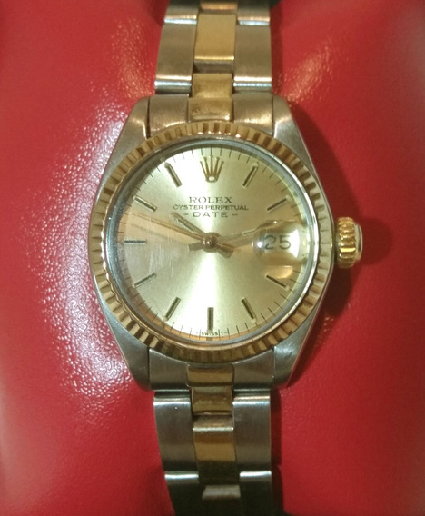 Rolex Oyster Perpetual Lady Date - Aço E Ouro
