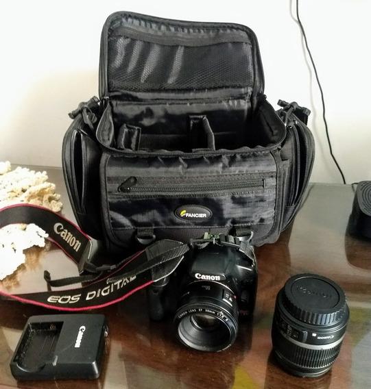 Câmera Profissional Eos Rebel T1i Com 2 Lentes