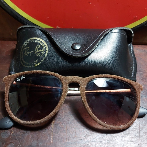 Óculos Antigo Ray Ban Erika Rb 5171 Veludo Italy Marrom