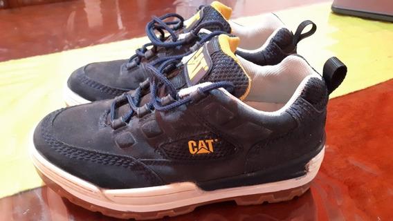 Zapatillas Cat Caterpiller 9 1/2 42 Cuero Cosido Eternas Usa
