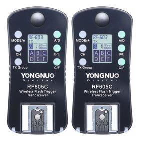 Radio Flash Yongnuo Rf-605c Par - Canon Garantia Novo