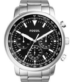 Relógio Fossil Masculino Prata Preto Promoção Nfe Fs5412/1kn