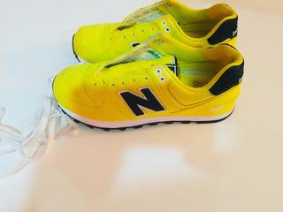 New Balance 574 Amarillos Mujer