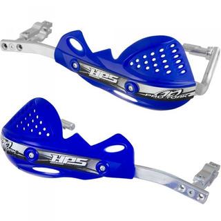 Protector De Manos Pro Tork Aluminio Hps Azul Phantom Motos