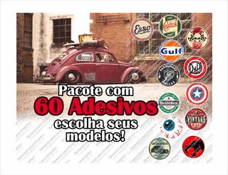 Adesivos Retro Antigos Vintage Automotivos Diversos (60 Un.)