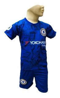 Conjunto Do Cheasea Infantil Meninos,camiseta E Shorts