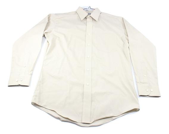 Camisa Vestir Beige Jbe Nueva Talla 38 Cuello 15 (ver Detall