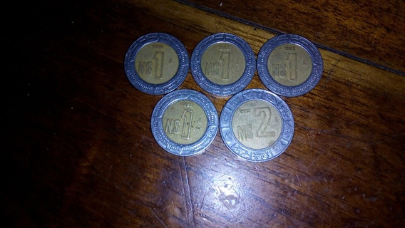 Monedas De Aun Nuevo Peso De 1995 4 De Un $1 Y Una De $2