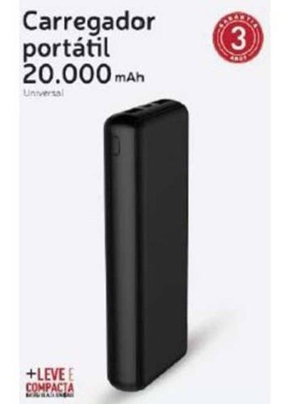 Carregador Portátil Powerbank Xtrax 20.000mah Preto