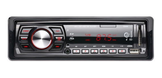 Auto Carro Estéreo Áudio Mp3 Player 12v Em-traço Único 1