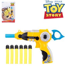 Pistola Lanca Dardo Espuma Com 6 Dardos Toy Story Na Cartela