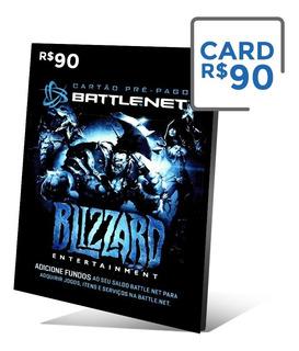 Cartão Blizzard 90 Reais - Gift Card - Battle.net - Wow