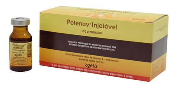 Potenay Injetável - Tônico/estimulante - 10 Frascos De 10ml