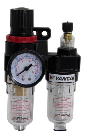 Filtro De Ar Regulador E Lubrificador 1/4 Lubrifil Compresso