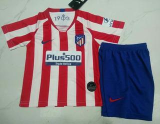 Camisetas + Short Niños Club Atletico Madrid 2020 Joao Felix