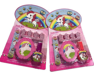 Set Manicura Unicornio Y Lol X 12 L.o.l Surprise Souvenir