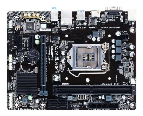 Placa Mãe Gigabyte Ga H110m-h Ddr4 Lga 1151 7° Geração Intel