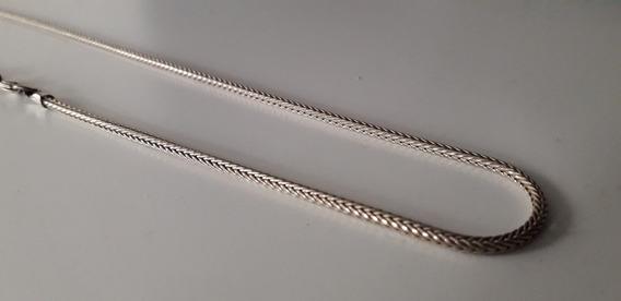 Corrente Cordão De Bali Trançada 62cm Em Prata 925