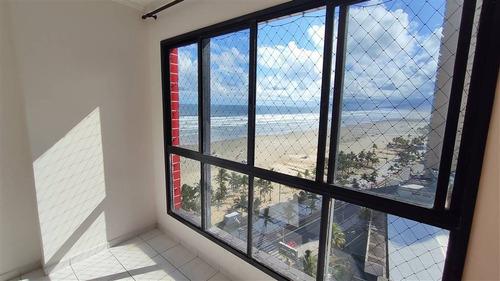 Apartamento 1 Dormitório, Sacada E Vista Panorâmica Para O Mar. Guilhermina Praia Grande Sp - Lup82