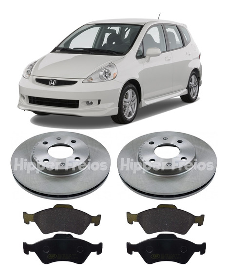 Kit Freio Disco Pastilha Honda Fit 2004 2005 2006 2007 2008
